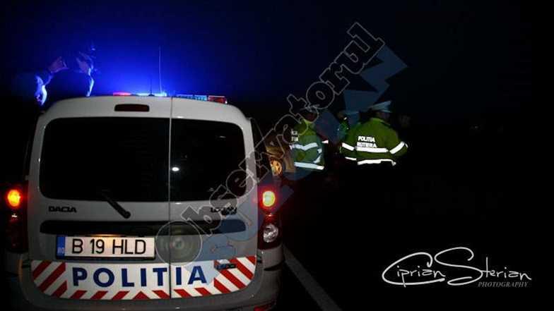 politie accident noaptea