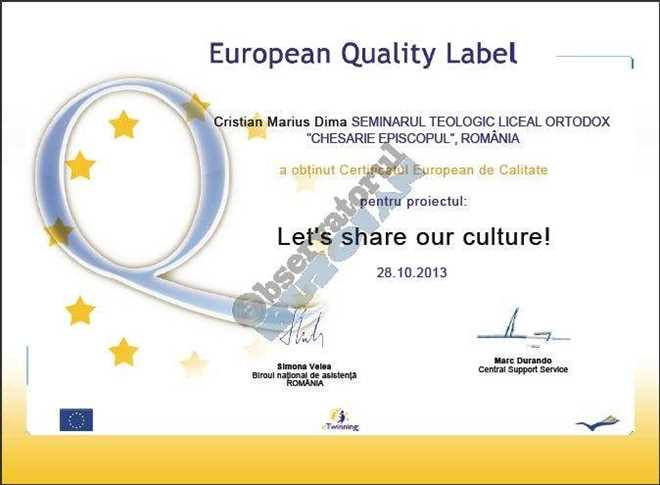 Certificat European