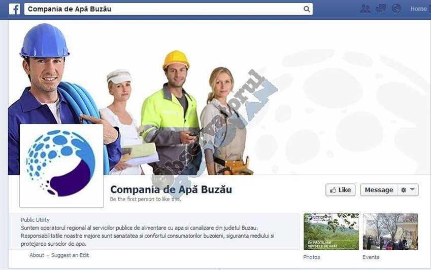 Facebook COmpania de Apa