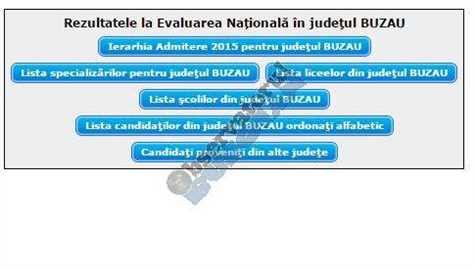 Evaluare nationala Buzau