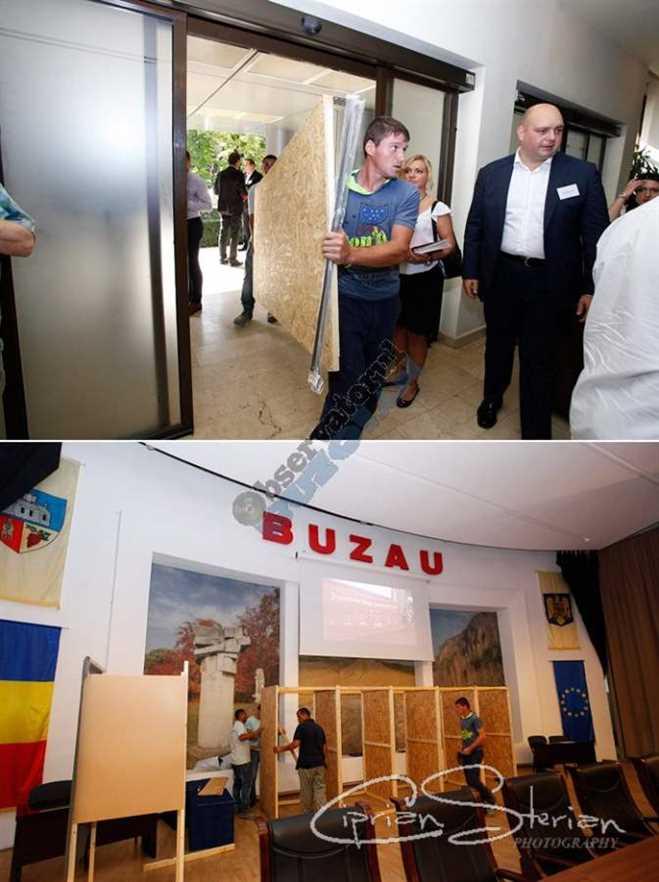 Susținătorii Doctorului și-au adus urne și cabine de vot pentru sperând că vor avea o șansă la votul secret