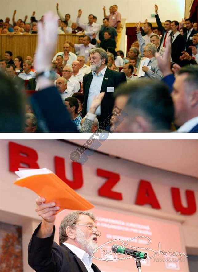 Propunerile lui Ion Vasile au fost contestate de sală ca și programul politic ambalat în dosarul portocaliu